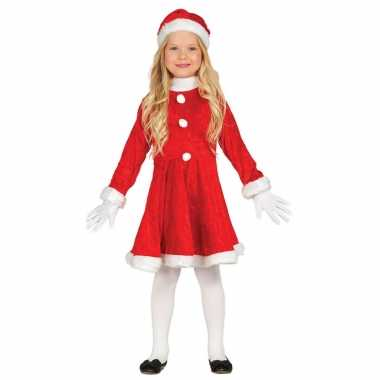 Budget kerstjurkje verkleed pak muts meisjes