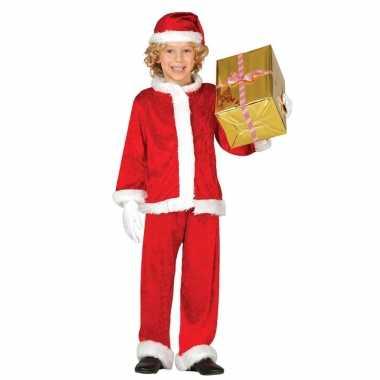 Budget pluche kerstman verkleed pak kinderen delig