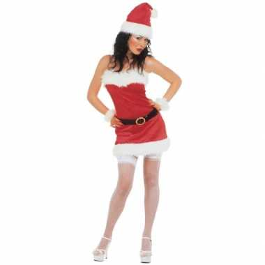 Flanellen kerstjurk dames