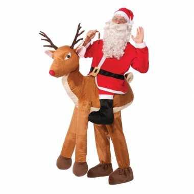 Instapkostuum kerstman rudolf volwassenen