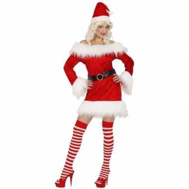 Kerstpakje dames rood fluweel