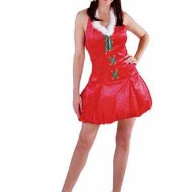 Rode fluwelen kerstjurk muts