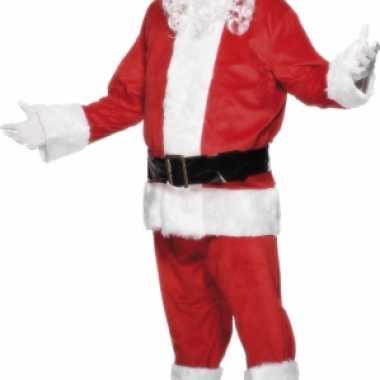 Velours kerstman pak deluxe